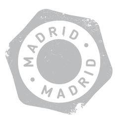 Madrid stamp rubber grunge vector