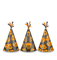 Party hats for halloween isolated on white vector