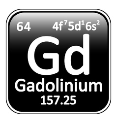 Periodic table element gadolinium icon vector