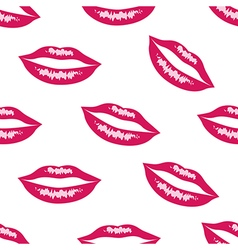 Pink lips seamless pattern vector image