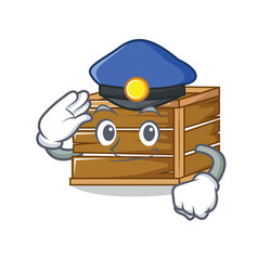 Police crate character cartoon style vector