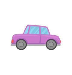 retro violet car cartoon vector image