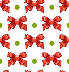 Seamless pattern cute cartoon bows-3 vector image vector image