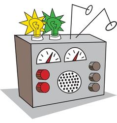 Shortwave radio vector image