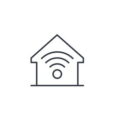 smart home wireless technology digital house vector image