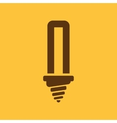 The fluorescent light bulb icon Lamp and bulb vector image