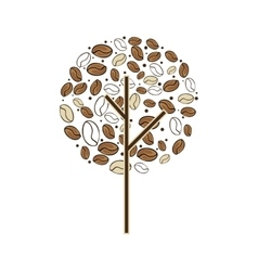 Tree plant of coffee beans vector