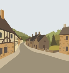 Village background vector image vector image