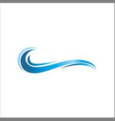water wave ocean logo vector image vector image