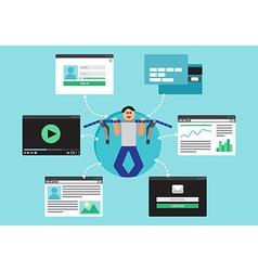 Web virtual socail network vector