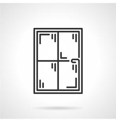 Window panes black line icon vector