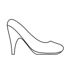 woman heel footwear vector image vector image