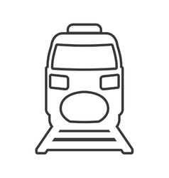 Train transportation delivery travel icon vector