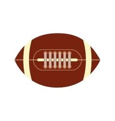 American football ball sport game icon vector