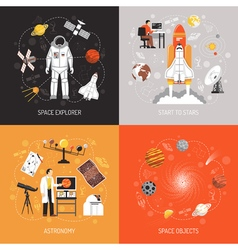 Astronomy 2x2 Design Concept vector image