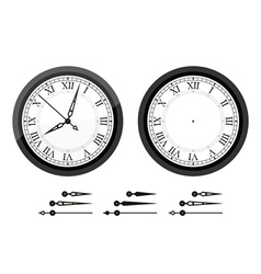 Clock with roman bended numerals vector image
