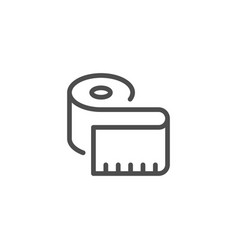 Measuring tape line icon vector