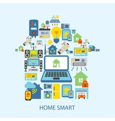 Smart home icons set vector
