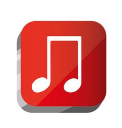 3d button musical sign icon vector