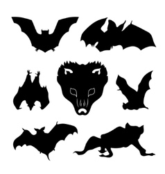 Bat set vector