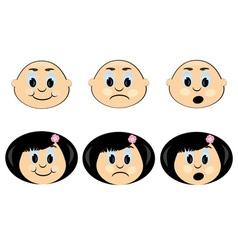 children faces icon vector image