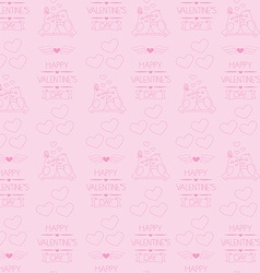 Seamless background for valentines day wrapping vector