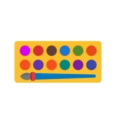 Paints box vector