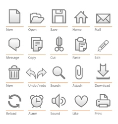 universal software icon set big size vector image
