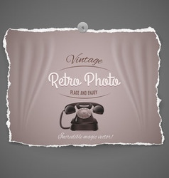 Vintage telephone ilustration vector