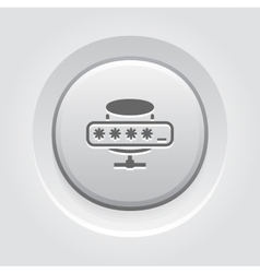 Database protection icon vector