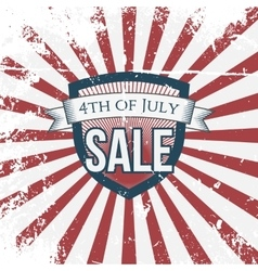 Independence day 4th of july sale holiday shield vector
