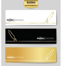 Abstract creative concept gold background vector image