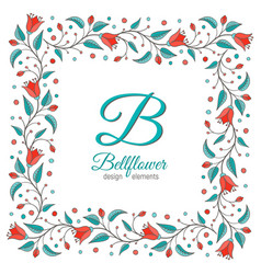 Bellflower floral element wedding design vector
