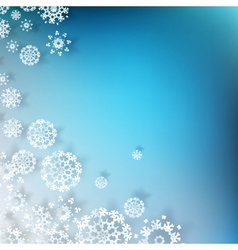 Blue christmas with white snowflakes eps 10 vector