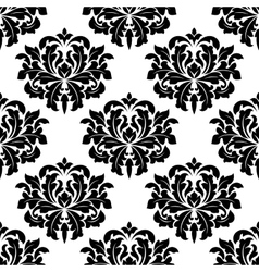 Bold damask style arabesque pattern vector
