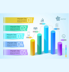 business chart and graph infographics vector image