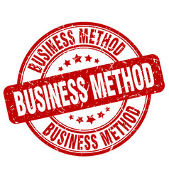 Business method red grunge stamp vector