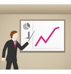 businessman graphs vector image