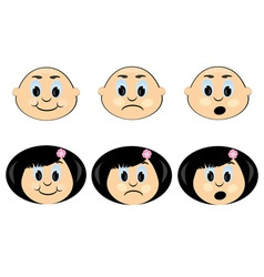 children faces icon vector image