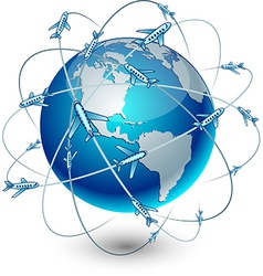 Communication Earth - America vector image vector image