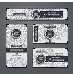 Corporate identity templates doodles photo vector