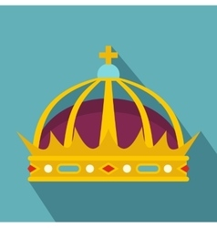 Crown icon flat style vector