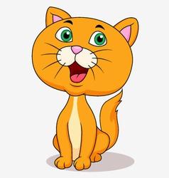 Cute cat cartoon sitting vector image