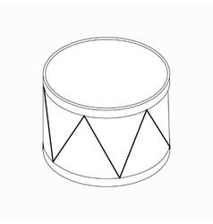 Drum icon isometric 3d style vector image