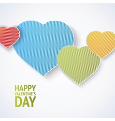 Flat design of heart vector image vector image