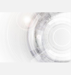 Grey and white futuristic technology abstract vector