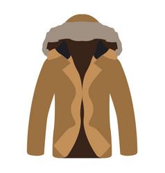 isolated christmas jacket vector image