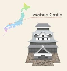 Japan castle matsue vector