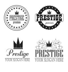 Logo prestige premium vector