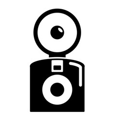 oldschool camera icon simple style vector image